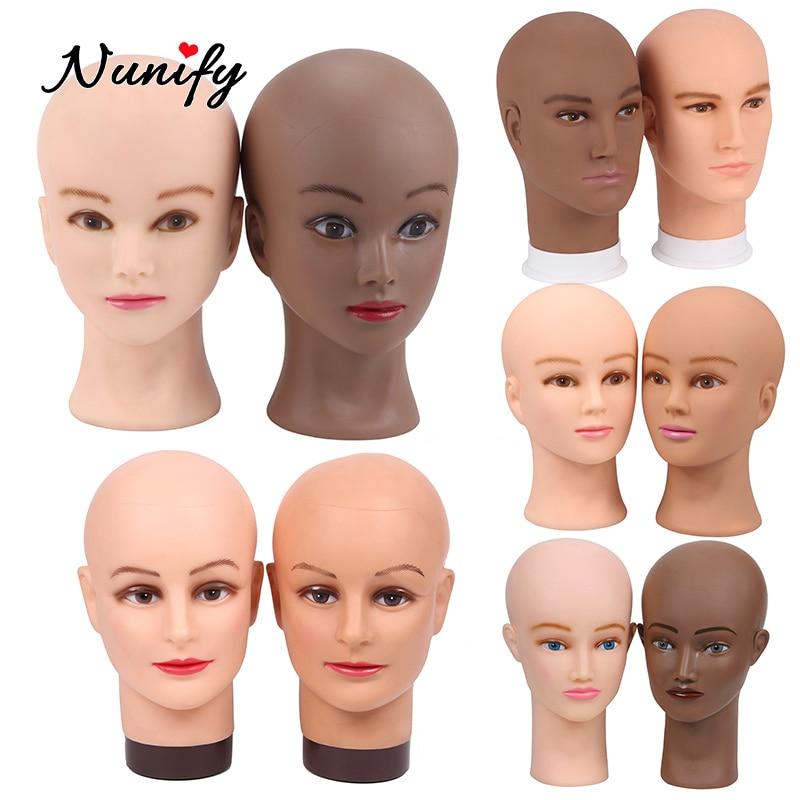 Nunify Doll Head Beige Manniquin Heads Men Big 21Inch Wig Head For Making Wigs Dark Brown Realistic Manneuqin Head Manikin