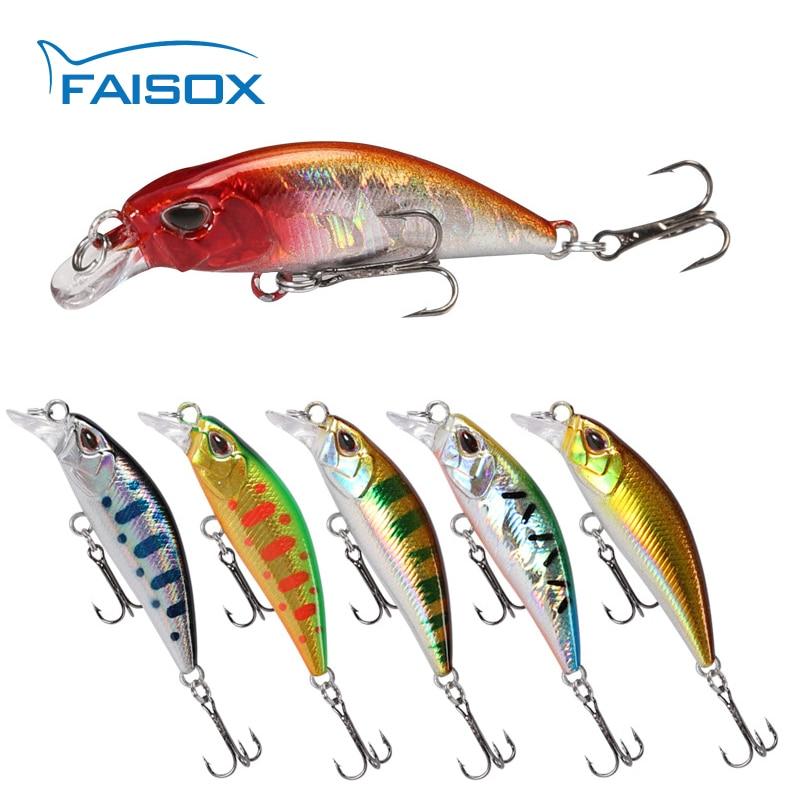FAISOX приманки для ловли рыбы, река Minnow 48 мм/4g рыболовные искусственные блесна жесткая приманка, воблер