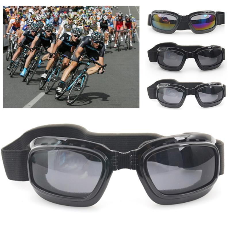 Gafas plegables profesionales, a prueba de viento, para espejo, a prueba de polvo, antisalpicaduras, a prueba de viento, película de Color, gafas de sol antideslizantes para motocicleta