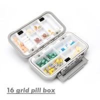 travel pill case medicine storage organizer container drug tablet dispenser independent lattice pill box fishing tackle box