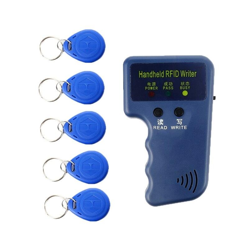 Copiadora portátil inteligente de 125 KHz, copiadora manual de tarjetas de identificación, copiadora de escritor, duplicadora de 5 etiquetas, copiadora portátil EM4100