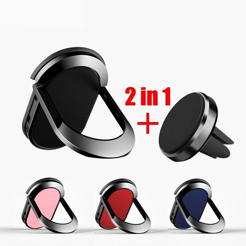 Soporte de anillo metálico para teléfono móvil para iPhone 9X8 7 plus 5 5S 6 6p anillo magnético redondo para coche