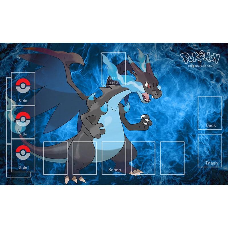 Figuras de Pokémon elfo Charizard X Playmat juego de mesa familiar cubierta Pad Charmander Charmeleon Charizard Dragon Mouse Pad