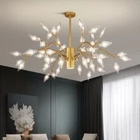 nordic style living room lamp pointed firefly light luxury chandelier warm ins net red lighting simple bedroom dining room lamp