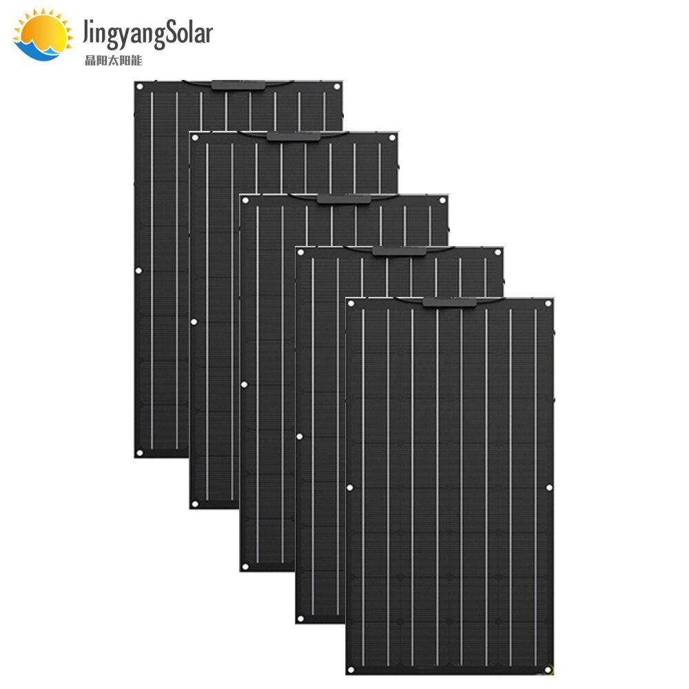 أكثر دواما شبه مرنة الألواح الشمسية ، ETFE 100w شبه مرنة الشمسية panelsolar الخليوي ل 12V بطارية القائم 100w 200w 300w 400