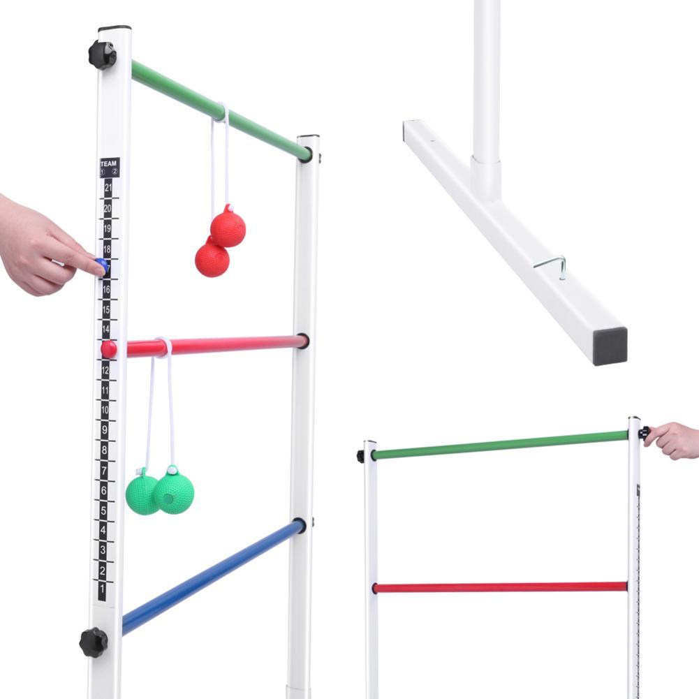 Juego de lanzamiento de escalera para niños y adultos, juego divertido para patio