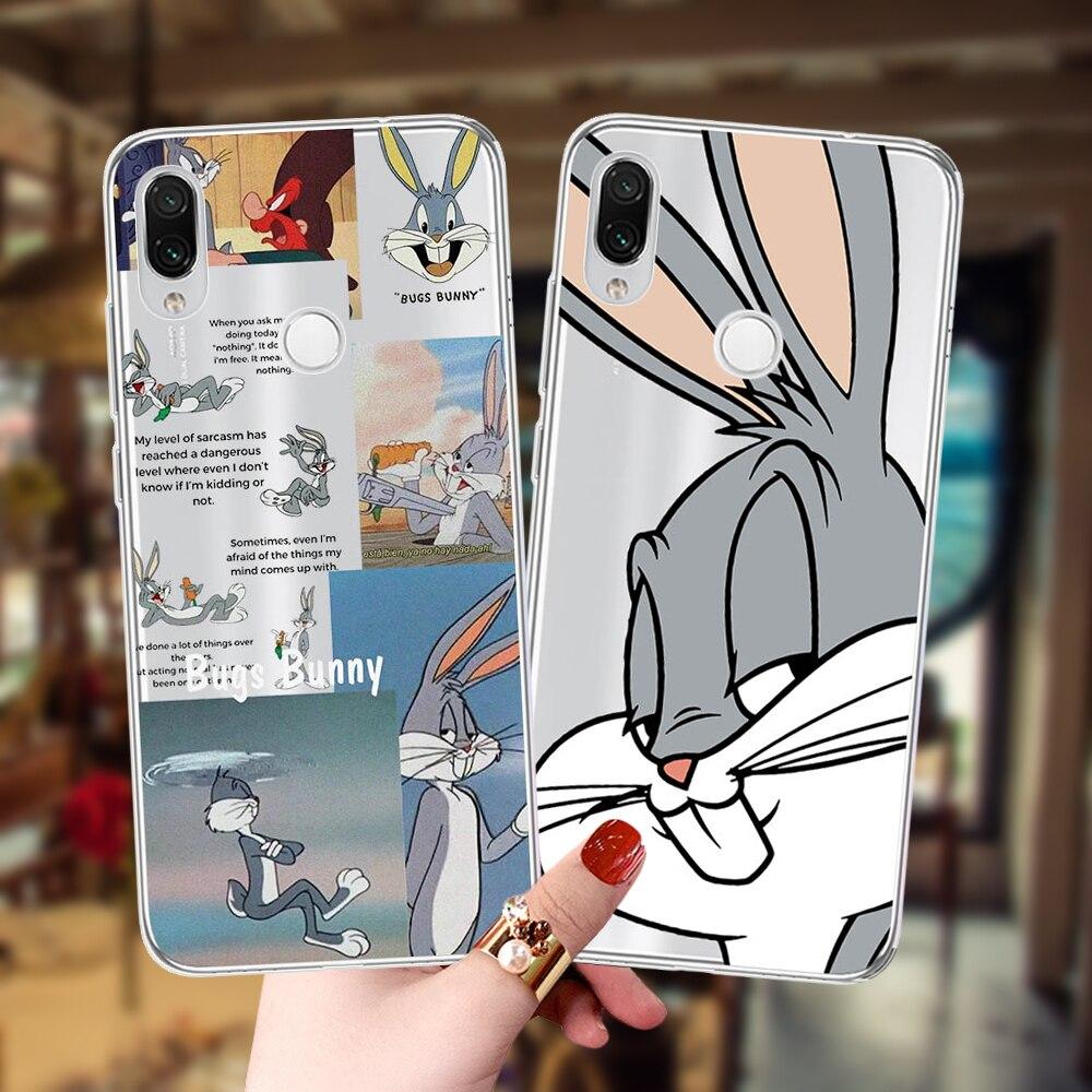 Capa de celular de desenho animado para xiaomi, capa de coelho macia de silicone para xiaomi mi 9 9se 9tpro a1 a2 lite a3 redmi 6 capa 6a 7 7a note6 note7 note8 pro, capa