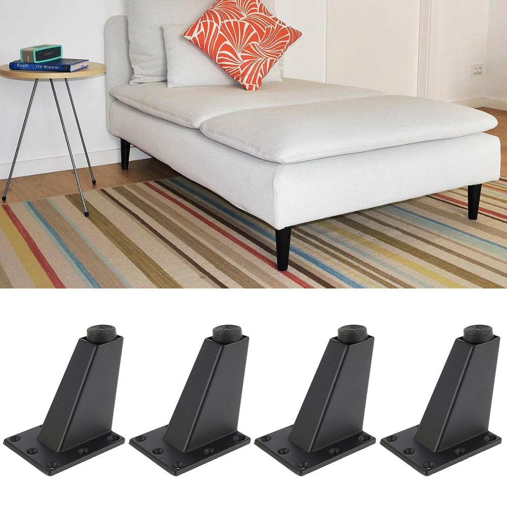 4Pcs Height 8cm Adjustable Furniture Legs Inclined Cone Sofa Bed Cabinet Table and Chair Replacement Feet Sloping Foot