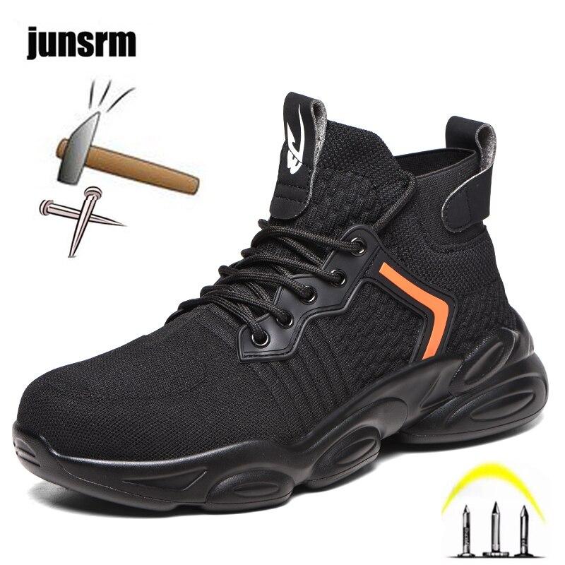 أحذية أمان للرجال ، أحذية رياضية مريحة ومسامية مع مقدمة فولاذية مقاومة للثقب ، غير قابلة للتدمير ، 2021