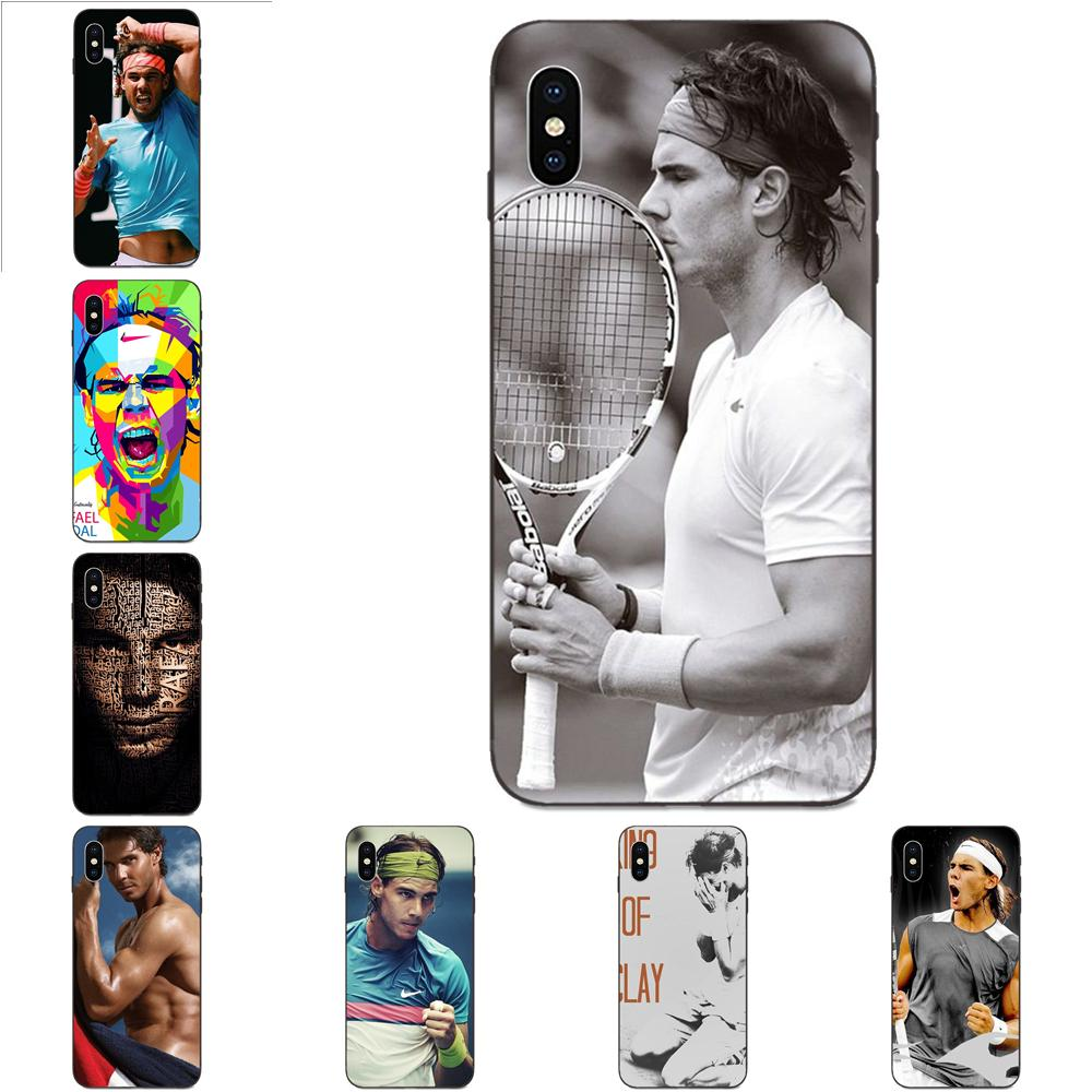 Para apple iphone 11 x xs max xr pro max 4 4S 5 5S se 6 s 7 8 mais padrão caso de telefone rafael nadal poster