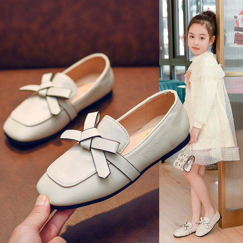 Girls Soft-soled Princess Shoes Korean Childrens Small PU Leather Shoes Children  Baby Single Shoes