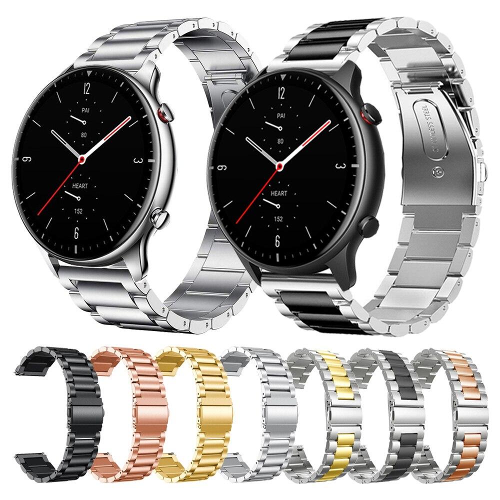 Strap For Xiaomi Amazfit GTR 2 GTR2 Metal band Bracelet for For Huami Amazfit Stratos 3 Smart watch Wrist straps Watchband
