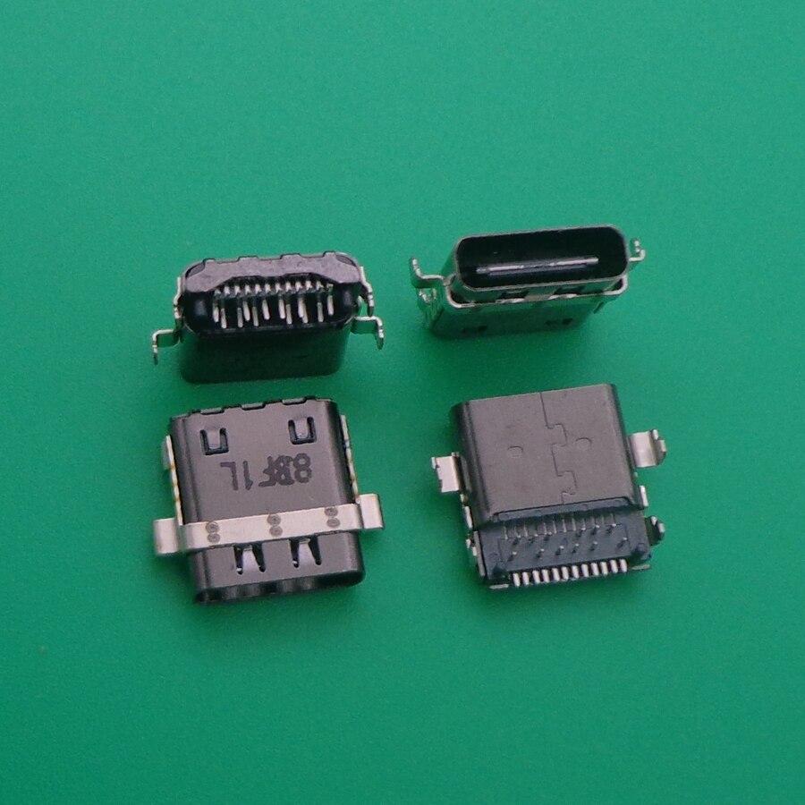 5 قطعة لديل XPS 12 9250 خط العرض 7275 XPS 15 9575 USB Type-C شحن جاك ميناء موصل أجزاء VC4TJ J2MK4 1JX77