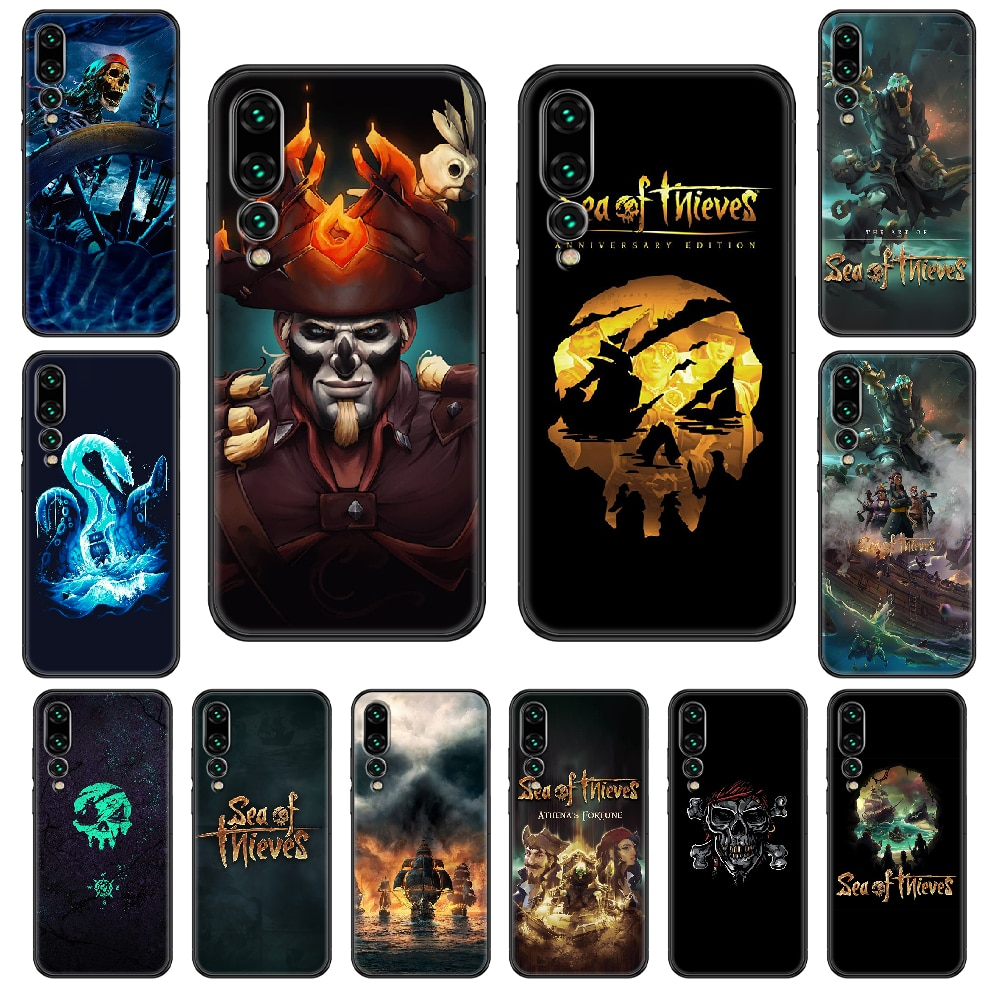 Sea of Thieves Phone case For Huawei P 8 10 20 30 Smart Plus 2019 Z Lite Pro 2017 2019 black art funda soft back painting