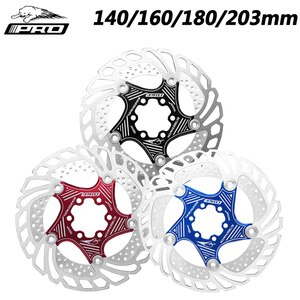 IIIPRO MTB/Road Bike Disc Rotors 140/160/180/203mm Cooling Floating Mountain Bicycle 6 Bolts Brake Parts