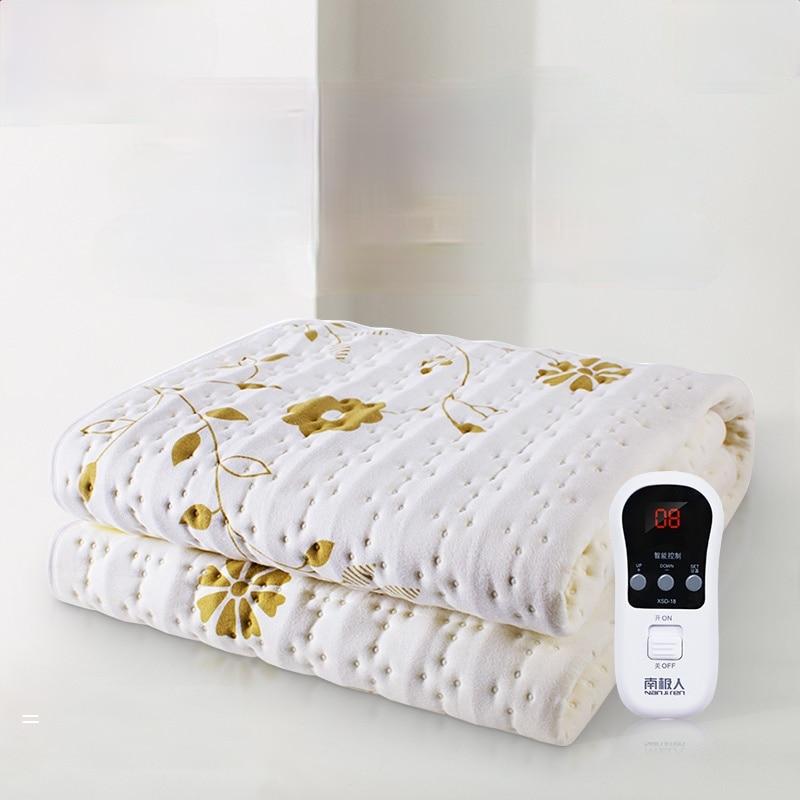 Manta doble eléctrico grande para el hogar, calentador de cama individual, para...