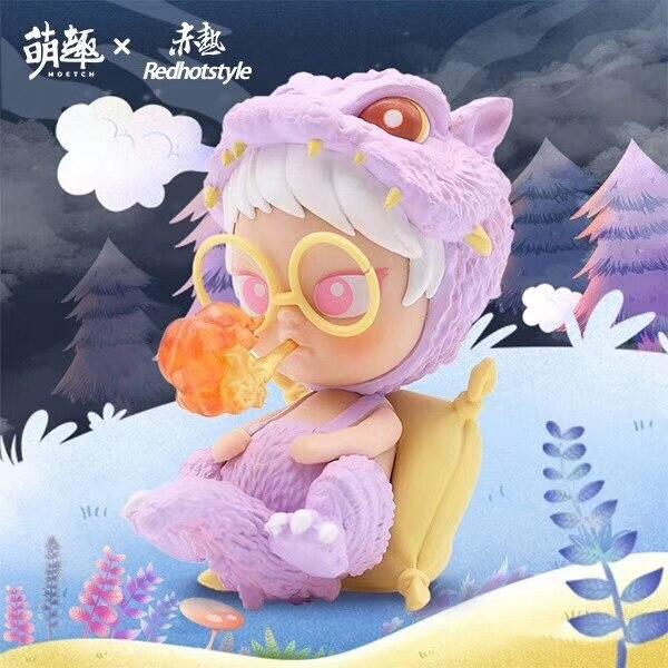 Genuine cute fun red hot little puff jungle secret series blind box popular desktop decoration toys cute gifts