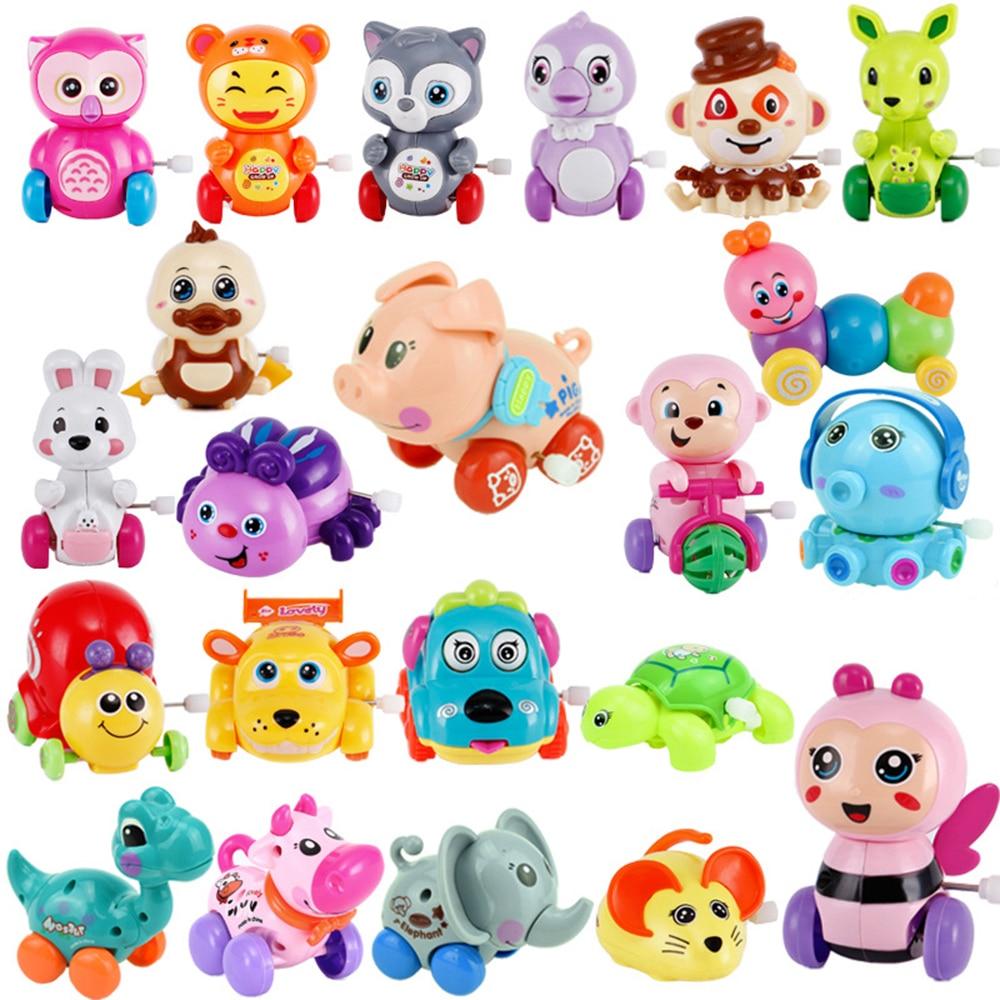 1 Pcs Baby Funny Kids Wind Up Toys Clockwork Toy Pull Back Jumping Frog/Dog/Lion Animal Baby Toys недорого
