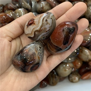 Best selling price 1000g natural sardonyx agate polished gemstone reiki healing crystals tumbled palm stone for home decoration