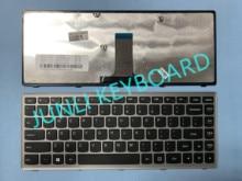 Clavier JUNLI pour Lenovo Ideapad Flex 14 Z410 G400s G405s S410P 25213531 V-142929BS1 cadre argent noir américain