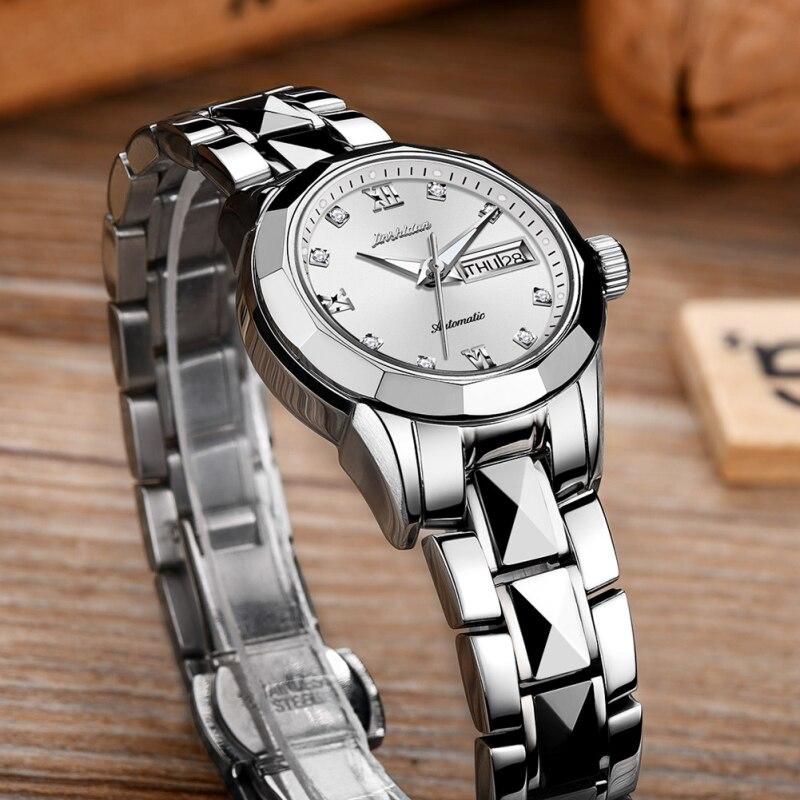 New  Fashion Trend Women's Watch Metal WatchTungsten Steel 30M Waterproof Female Automatic Mechanical Watch 6 Model Choose 8813 enlarge
