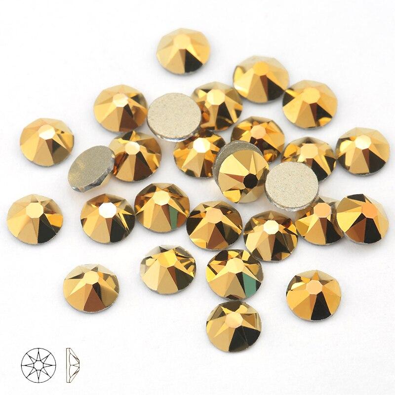 Aurum SS16-SS30 8 8 Grande Pequeno Copo De Cristal Strass Para Roupas 2088 Não-hotfix Natator Pedrinhas Para Unhas
