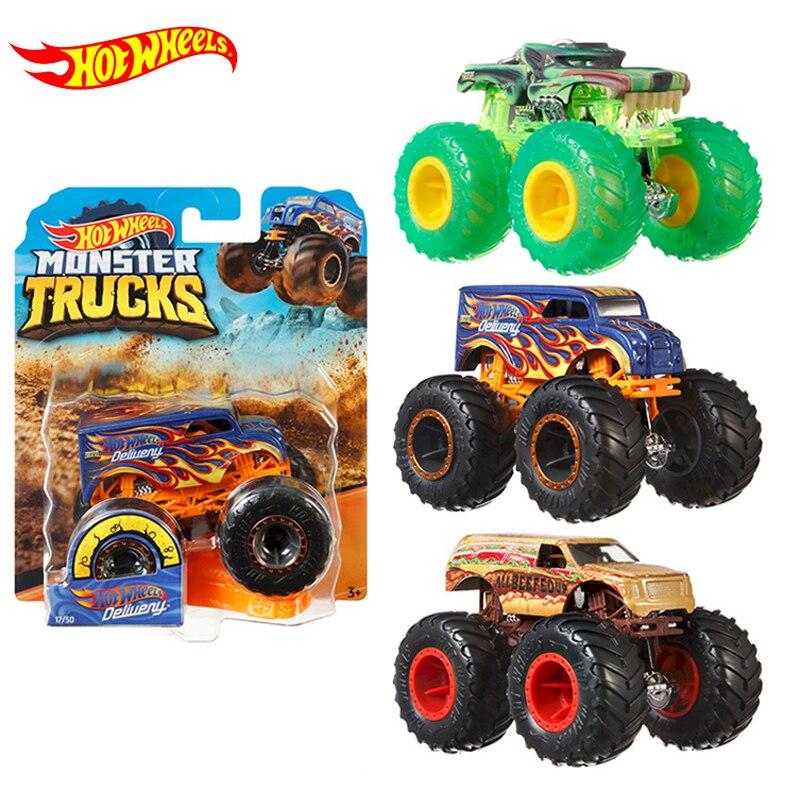 Горячие колеса треки 164 Монстр литья под давлением автомобиля игрушки коллекция модели грузовиков ассортимент металлических автомобилей ...