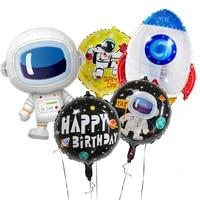 cartoon figure astronaut spaceship baby shower decorations single balloon party decor boys toys frozen birthday balloons