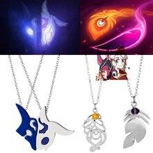 League Legends LOL Kindred Eternal Hunters XAYAH и RAKAN ожерелья для пар женские и мужские аксессуары подарок для влюбленных