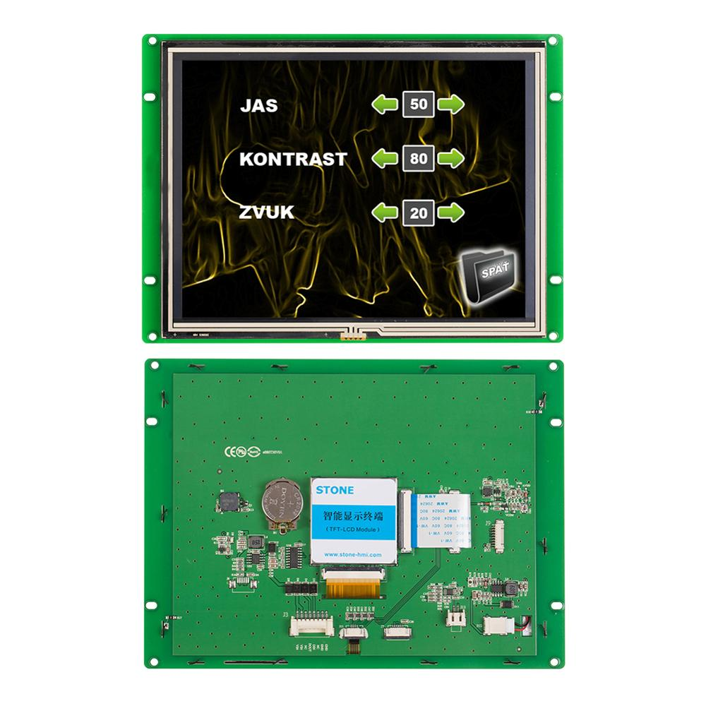 8 inch Resistive Touch Screen Panel with Controller + Program for Automation Machine oem odm high impac customized proggram touch screen panel applied in lighting automation