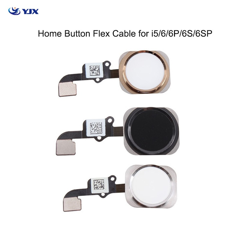 Mobile Phone Home Button Flex Cable for iPhone 6 6P 6S Plus 5S Menu Sensor Key Replacement Parts