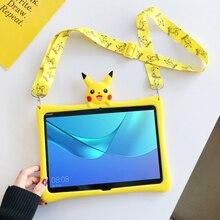 Чехол для Huawei MediaPad M3 M5 lite 8,0 10,1/M6 8,4 10,8 мультяшный детский чехол для T3 9,6 T5 10 10,1 ''силиконовый чехол + ремешок