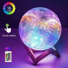3D Starry Sky Light Printing Moon Lamp LED Colorful Change Home Decor Creative Lights Kids Birthday