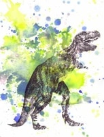 Lot Style choisir style nordique eau couleur art deco animal Tyrannosauru Film impression soie affiche maison mur decor 24x36inch