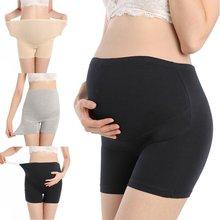 Pantalones cortos Boyshort de seguridad de cintura alta Ajuste de estómago levanta bragas mujer embarazada
