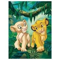full round disney diamond painting children cartoon comic lion king small lion forest king 5d diamond embroidered cross stitch