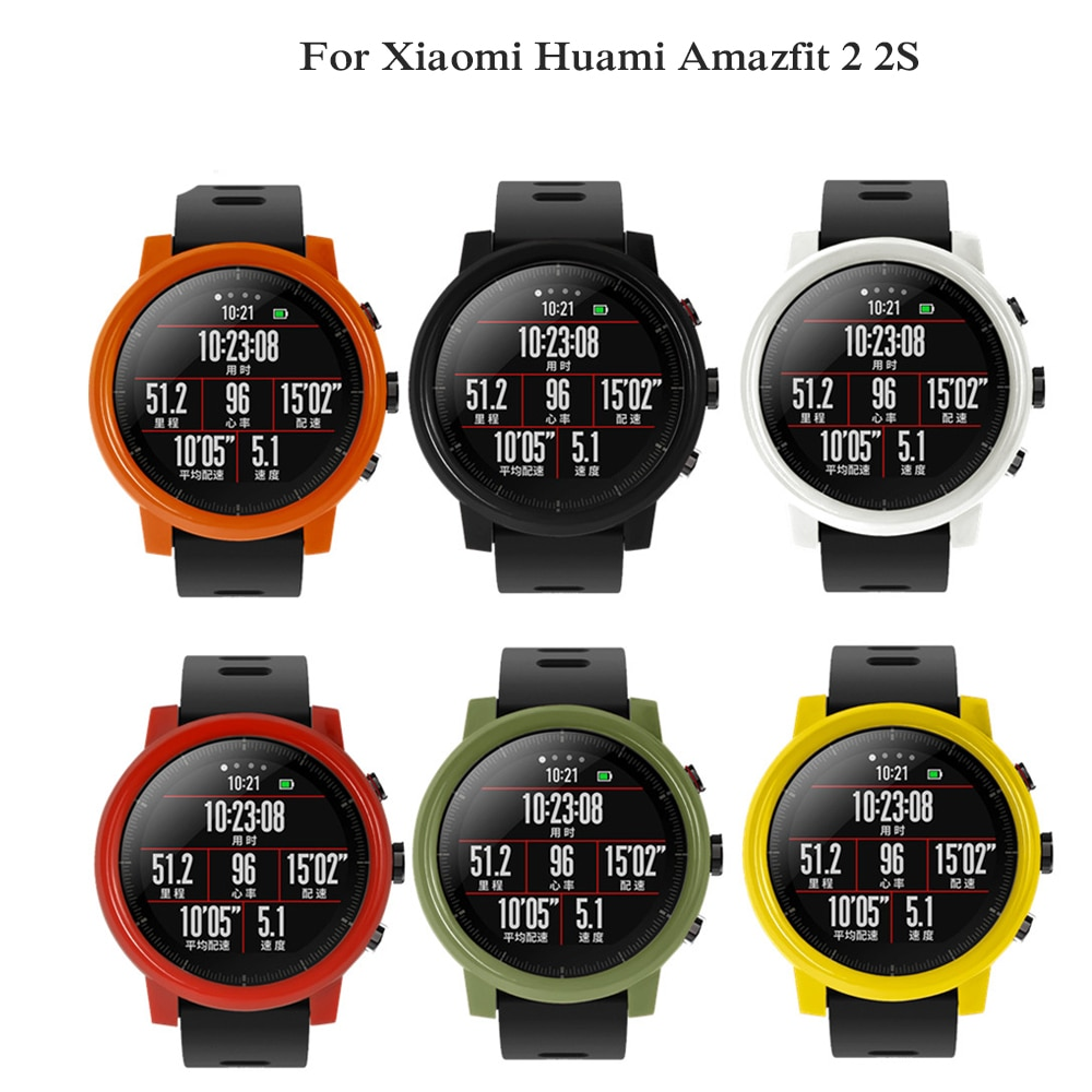 PC band protective case cover for xiaomi huami amazfit 2 2S stratos colorful smart watchband hard plastic shell Slim Frame new
