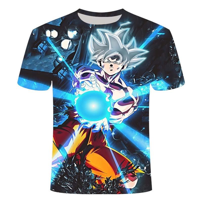 2020 verão nova camiseta moda 3d impressão anime dragon ball padrão topo casual de manga curta em torno do pescoço camiseta mais 6xl