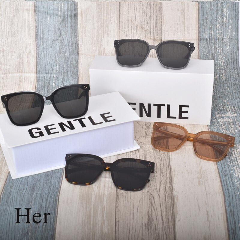 2020 New Fashion GM sunglasses Design for big face men Sunglasses GENTLE Her Square Acetate Polarized UV400 Sunglasses women men