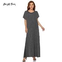 dress women 2021 summer v neck short sleeve colorful plaid print casual dress elegant side split maxi long dresses bdd 53