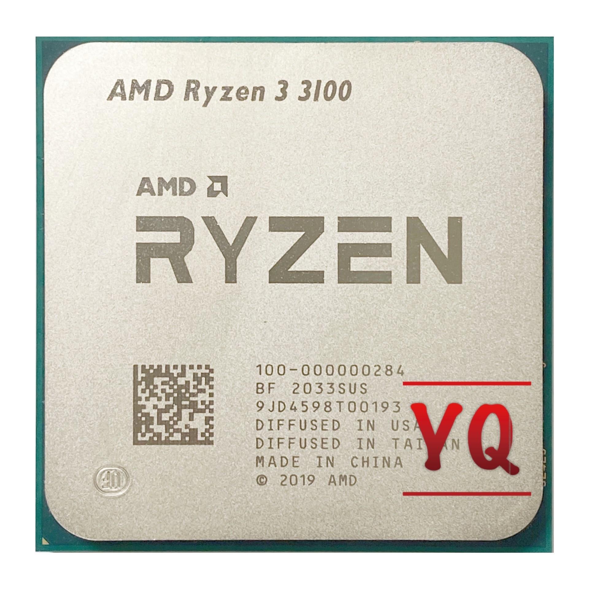 [해외] AMD Ryzen 3 3100 R3 3100 3.6 GHz 쿼드 코어 8 스레드 65W CPU 프로세서 L3 = 16M 100-000000184 소켓 AM4, 라이젠 중고 씨피유