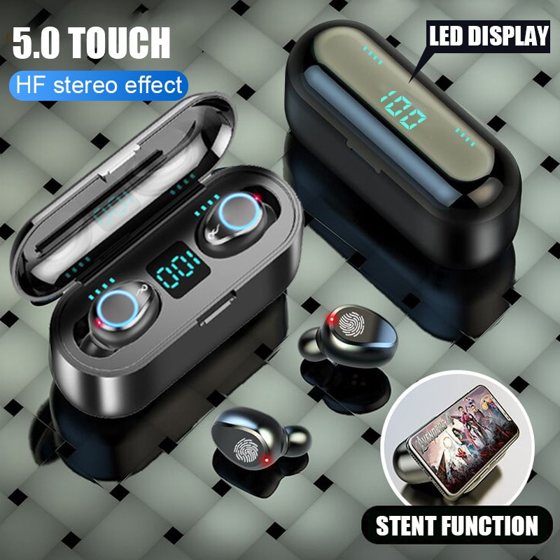 5.0 Wireless Earphones Earbuds 2200mAh Charging Box Bluetooth Sports Waterproof 9D HiFi Stereo Wireless Bluetooth Headphones enlarge