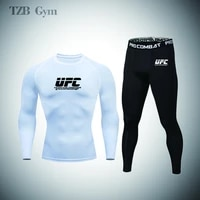 mens sports suit gym fitness running quick drying sports t shirt cycling jogging football sports tights running 2 piece set