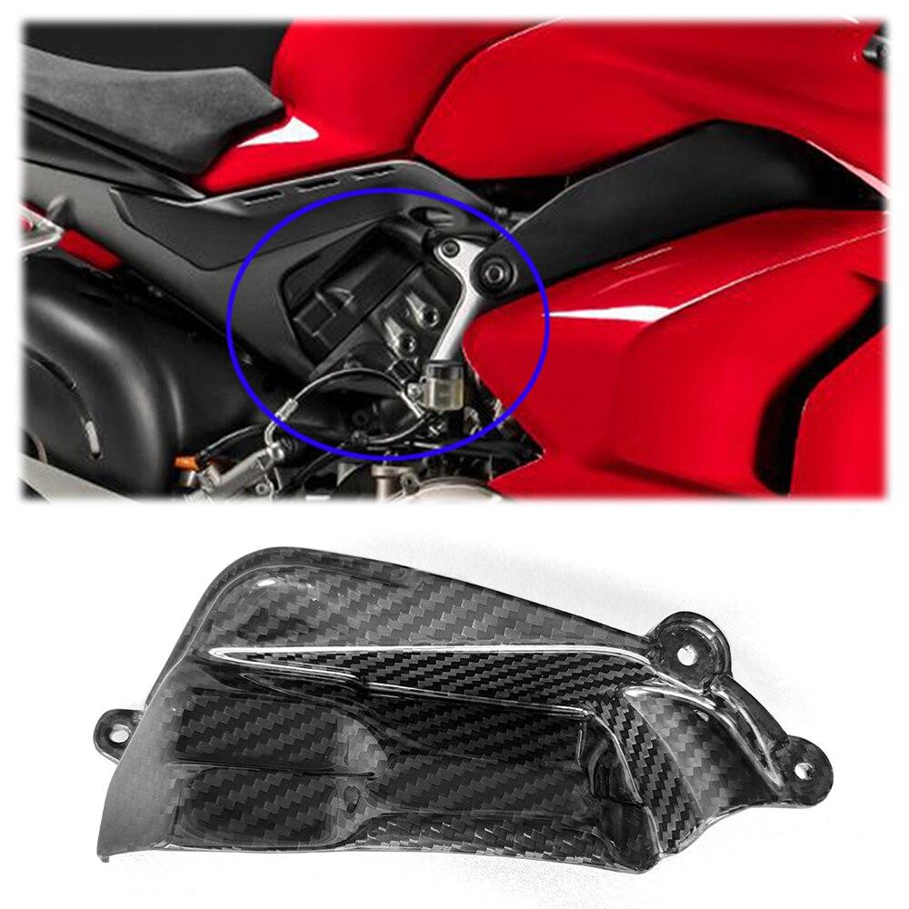 ل Ducati Panigale V4 V4S 2018 + 3K أجزاء دراجات من ألياف الكربون الحق كام غطاء القسم هدية اكسسوارات لمعان 100% حك نسج