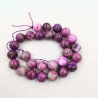 natural stone sugilite smooth round beads 4 6 8 10 12 14mm men women fashion necklace charms wholesale for jewelry making