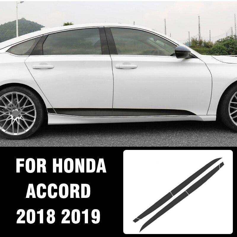 Pcmos спортивные красные боковые нижние наклейки на дверь для Honda Accord 2018 2019 автомобильные Внешние аксессуары автомобильные наклейки