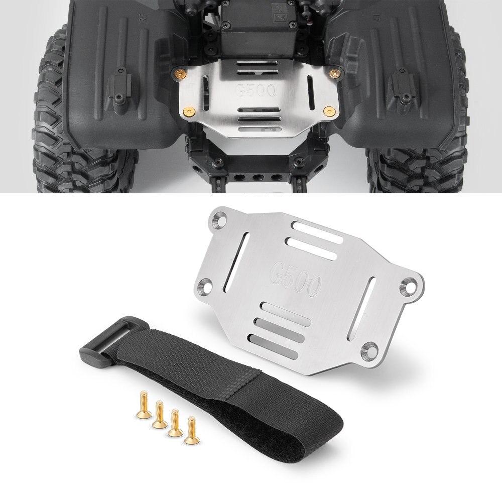 Yeahru suporte da placa de bateria metal placa expansão montagem deslocalização com alça para trx4 g500 1/10 rc rock crawler carro