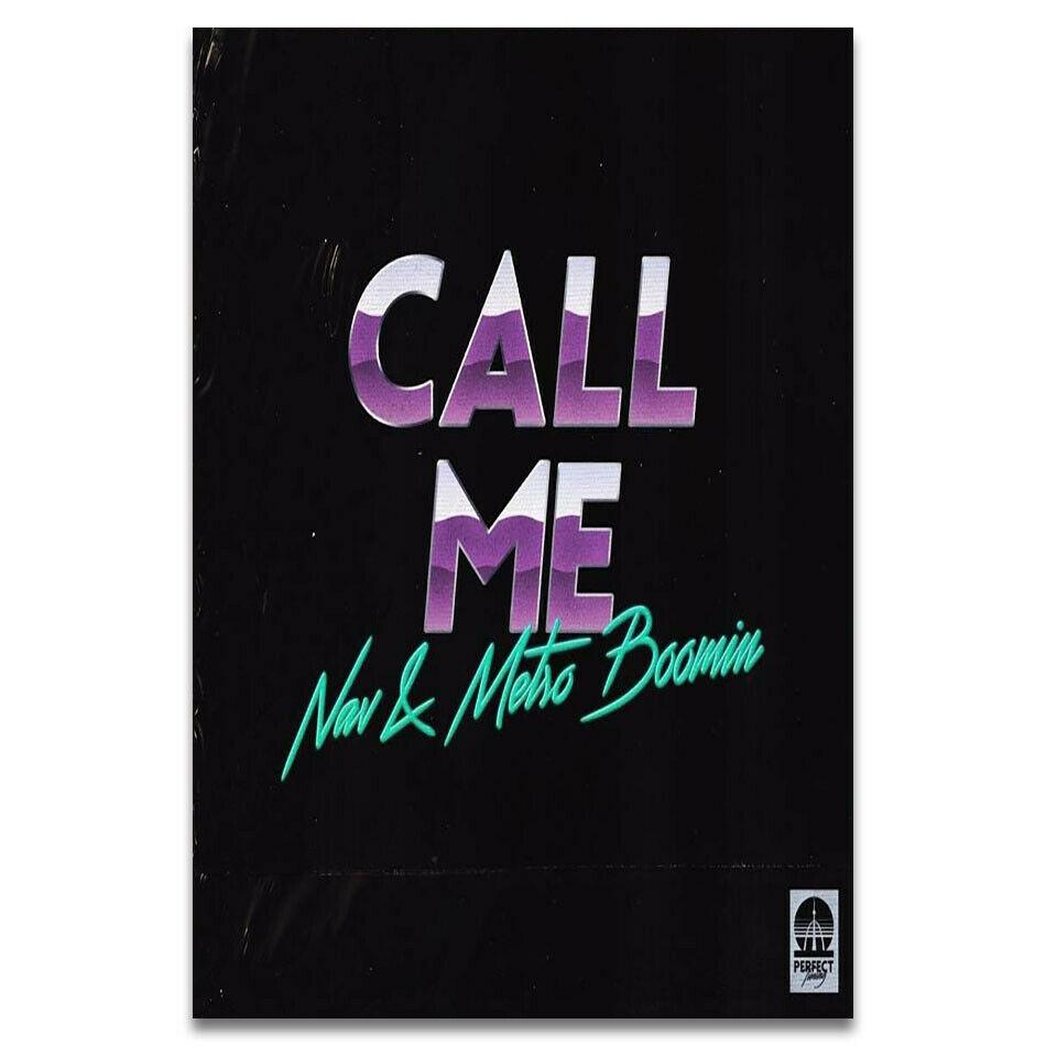 Navy Call Me música rapero álbum seda tela pared póster arte decoración pegatina brillante