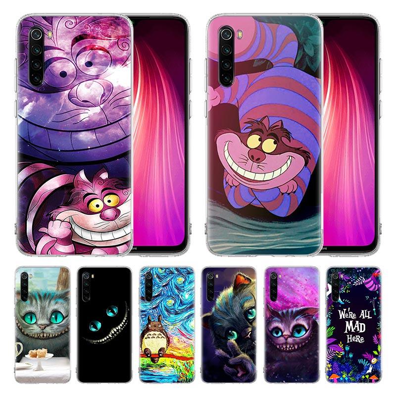 Case For Xiaomi Redmi Mi Note 9 9s 8 8T 7 6 Pro Max K20 K30 Zoom 5G 6A 7A 8A 7S Cover Coque Alice In Wonderland Cheshire Cat