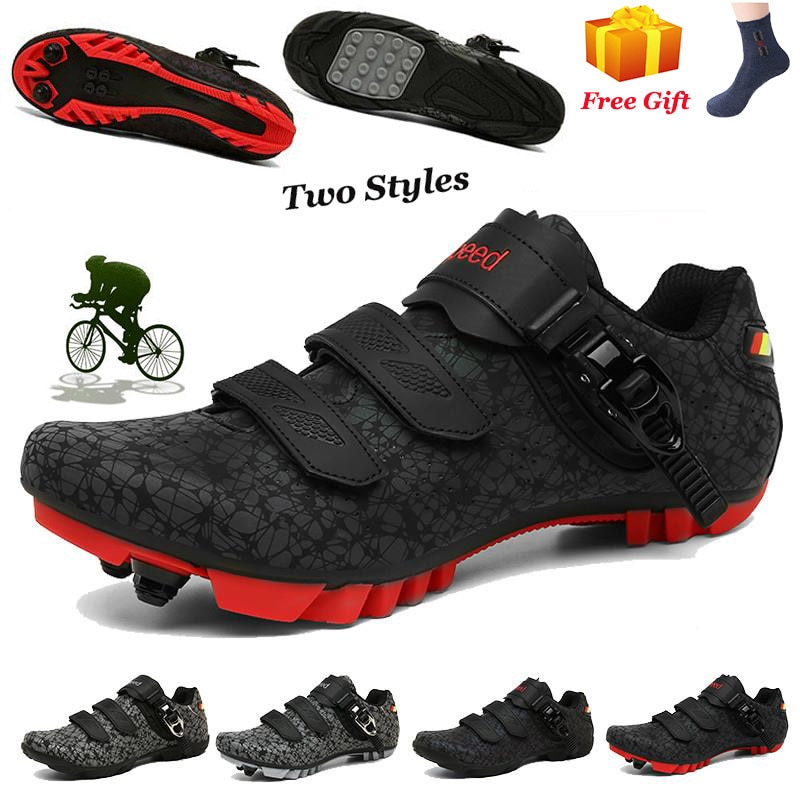 MTB Cycling Shoes Men Outdoor Sports sapatilha ciclismo Self-locking Nonslip Mountain Bike Sneakers Racing Women Bicycle Shoes